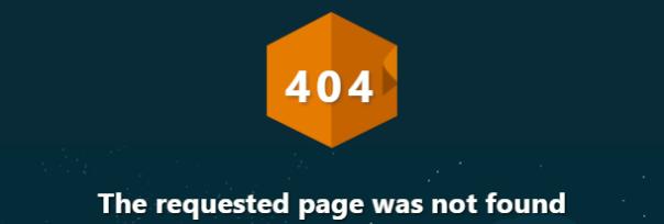 404 Not Found Error